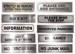 Business Stick on Signs 17x4cm choice of 10 (part 3)